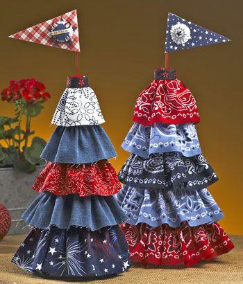 Cute Patriotic Trees Craft Ideas Pinterest