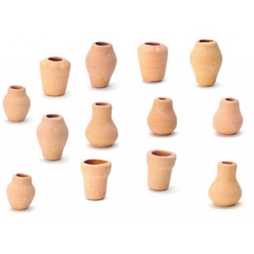 Aztec Miniatures Clay Pots Assorted 12 1 Inch Scale Dollhouse Miniature G7478 715773747808 Miniature Clay Pots Dollhouse Miniatures Clay Pots
