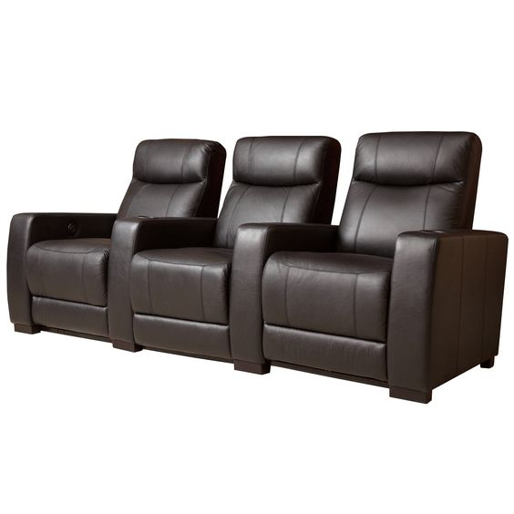 Abbyson Living Montgomery 3-piece Top Grain Power Theatre Recliners
