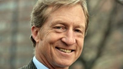 THE LYING SEASON:  Lying Billionaire Democrat Tom Steyer has pledged to raise and spend at least $100 million this election cycle to defeat any Republican candidate in any state who disputes or is skeptical of the global climate change religion sweeping masses of useless idiots everywhere. Big Climate has become the new fascism, and he is its funding fuhrer. It's worth noting that Steyer isn't attacking ANY Democrat climate skeptics. Tom Steyer v. Scott Brown #p2 #tcot