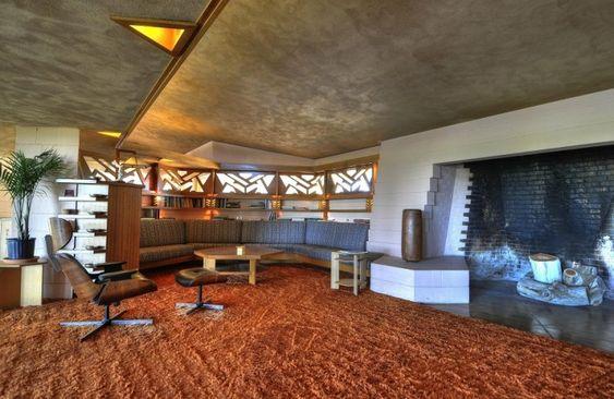 Randall Fawcett House, FLW. 1961. Los Banos, California