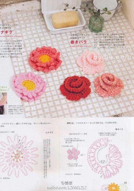 Crochet Wrap Rose - Chart - Free Crochet Flower Patterns ...
