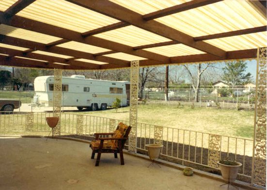Fiberglass Deck Roof Would Provide Shade, But Let A Lot Of Light Through. | Deck  Roof | Pinterest