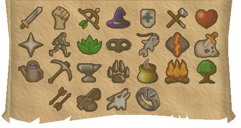 All Of The Skill Icons From Runescape Pixel Art Pokemon Sprites Art