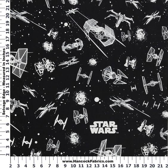 Cotton fabric star wars and glow on pinterest for Star wars fabric