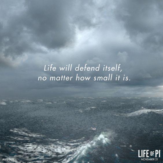 Life will defend itself, no matter how small it is.