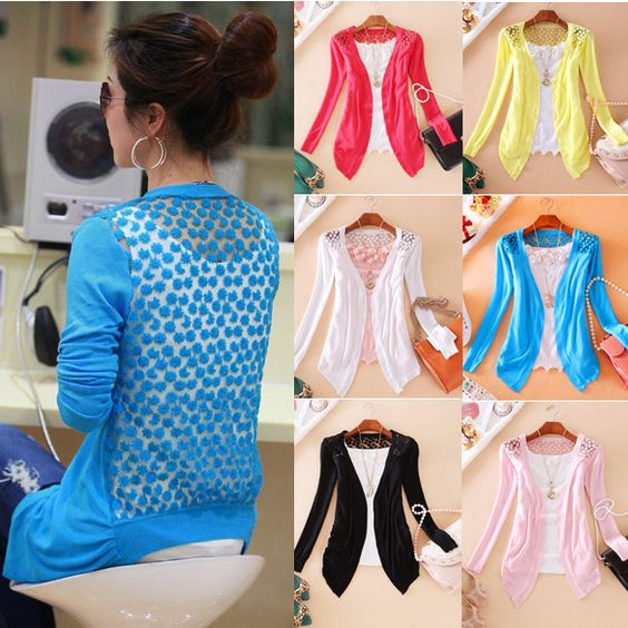 "Eight Colors : Black, White, Rose Red, Pink, Sky Blue, Watermelon Red, Yellow, GreenMaterial: CottonNeckline: CardiganSleeve Length: Long SleevesSeason: Spring, FallNet Weight: 160g.Attention : As different computers display colors differently, the color of the actual item may vary slightly from the above images, thanks for your understanding.Only 1 size About size XS to M for Western inchcmBust32.76""84cmShoulder13.65""35cmSleeve20.6""53cmFront Length24.96""64cmBackLength21.06""54cmHint for…"