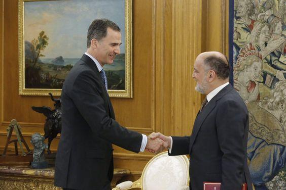 El Rey Felipe VI recibió del Presidente del Tribunal Constitucional la memoria anual. 03-06-2016