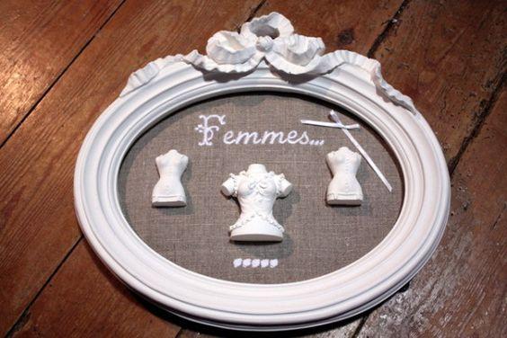 Bricolage: Tableau bustes de femmes - La Maisonnette de Barbichounette