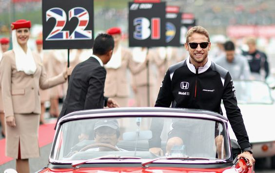 Jenson Button Photos Photos - Jenson Button of Great Britain and McLaren Honda on the drivers parade before the Formula One Grand Prix of Japan at Suzuka Circuit on October 9, 2016 in Suzuka. - F1 Grand Prix of Japan