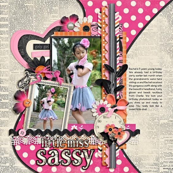 This page screams cute! I mean look at those photos! So adorable and the kit is a perfect choice for this layout by eve11ne for September's Challenge #13.