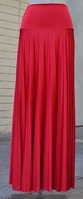 Ripple Pleated Long Maxi Skirt