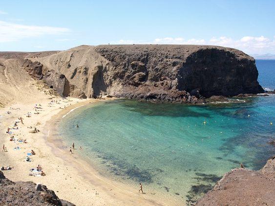 Playa de Papagayo. Isla de Lanzarote. Islas Canarias. España: