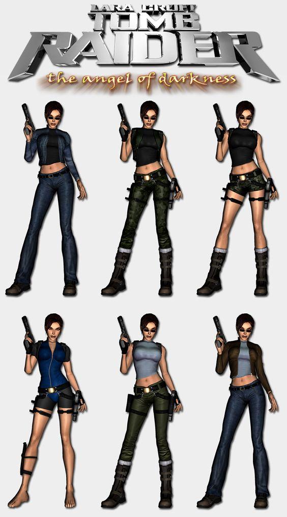 Tomb Raider Angel of Darkness - Lara's outfits by HailSatana