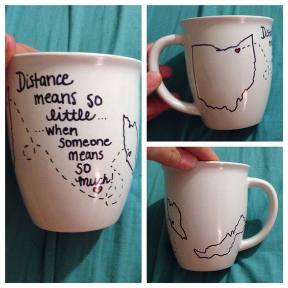 Country Long Distance Mug by KratzysCreations on Etsy