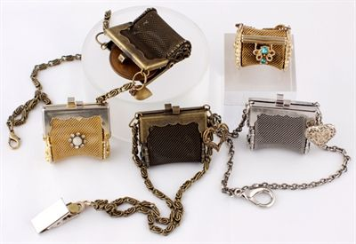 miniature metal mesh purses - vintage