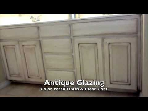 Faux Paint Finish Walls and Antique Glaze Cabinets - Arlington, Texas he talks a little odf what the paint colors are.