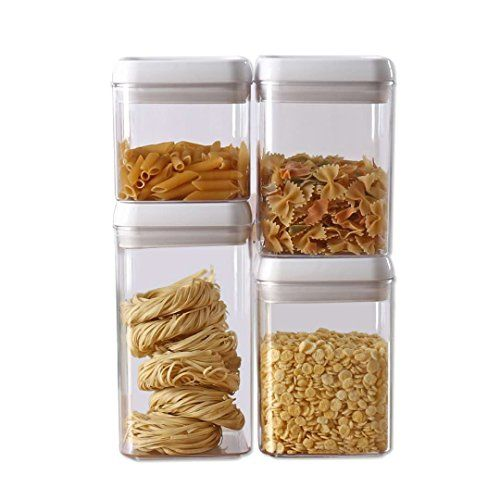 Easy Lock Food Storage Container Is Useful For Flour Sugar Pet Food Cereals Rice Spa Food Storage Containers Kitchen Storage Containers Plastic Canisters