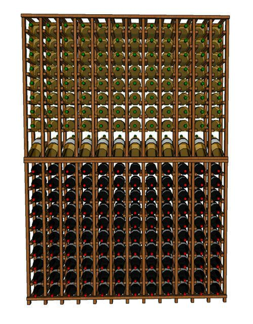 Wineracks Com Premium Series 12 Column Individual Bottle Kit Holds 240 Bottles Of Wine Dimensions 54 3 4 Wide X 78 Wine Rack Column Wine Wine Cellar Racks