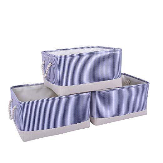 Amazon Com Thewarmhome Storage Bins Baskets For Shelves Fabric