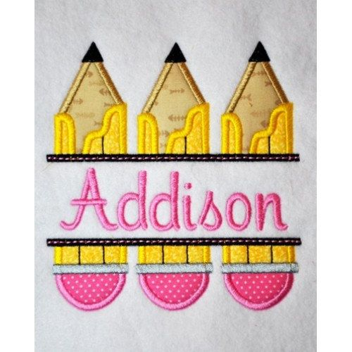 Personalized Back to School Shirt - Pencils on Etsy, $18.00