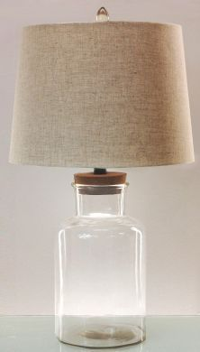 fillable jar lamp glass table lamps lamps tlc. Black Bedroom Furniture Sets. Home Design Ideas