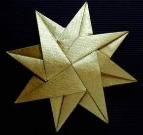 Weihnachtsstern Origami