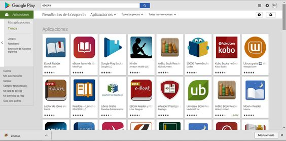 Lectores de ebooks para tablet Android
