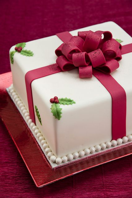 Gorgeous Christmas present cake! See more party ideas at CatchMyParty.com. #christmas #cake