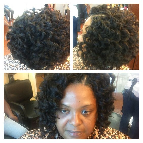 Crochet Braids Kima : Crochet Braids bob with Kima braid ripple deep My hair designs ...