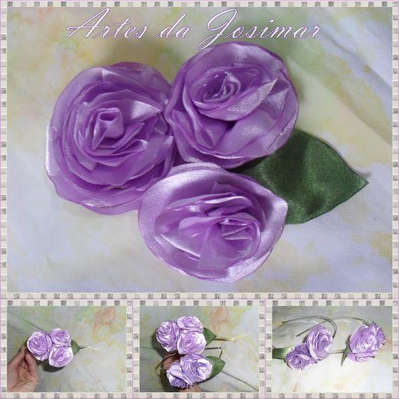 Artesanato Fofo: PAP da flor de cetim