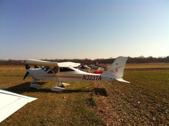 My Tecnam P92 at Massey Aerodrome, December 2013
