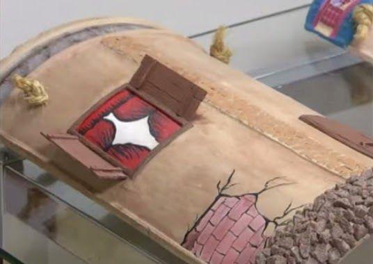 Artesanato fofo telha decorada passo a passo telhas - Como decorar macetas de barro ...
