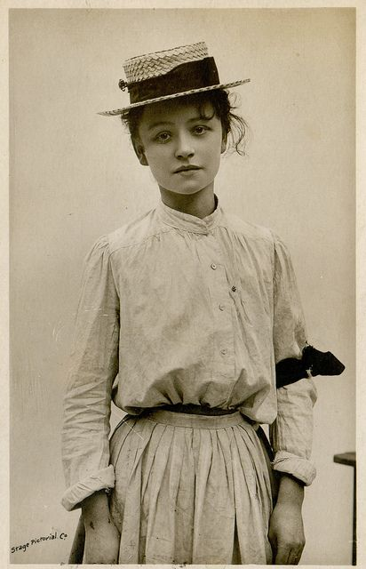 miss hilda trevelyan by unexpectedtales on Flickr.  Via Flickr:vintage postcard 1906.for many more unusual, beautiful and bizarre snapshots, see my 'perculiar snapshots' set.
