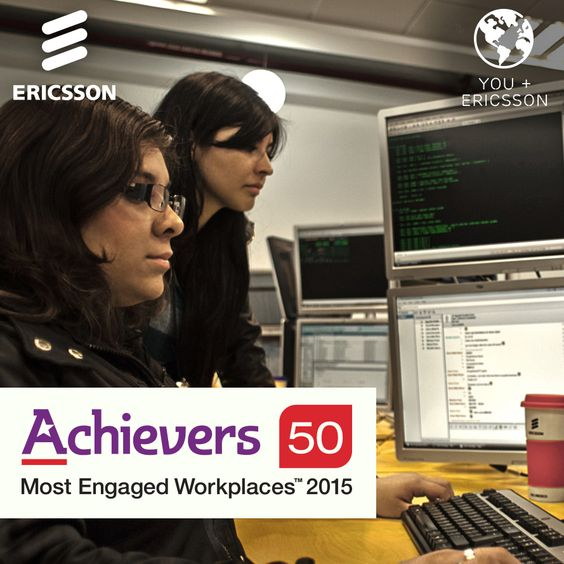 #Ericsson has been recognized as one of #Achievers 50 Most Engaged Workplaces™ in North America! This award recognizes top companies who display a commitment in making employee engagement a priority.