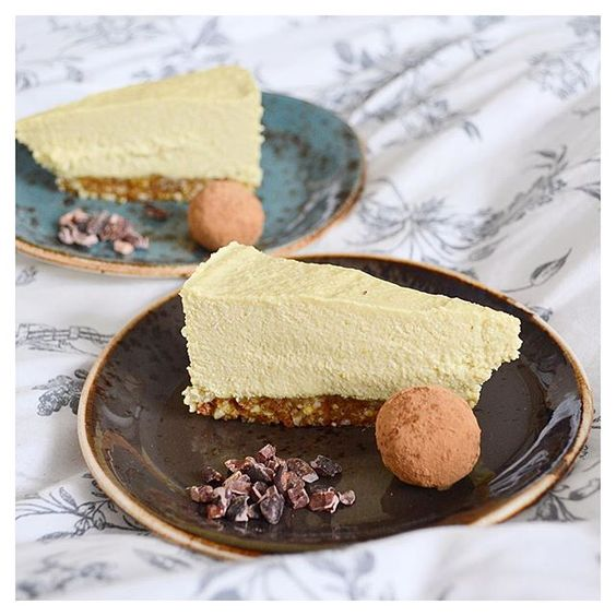 Cacao nibs, a cacao truffle and a slice of raw vegan mango and Passionfruit cheesecake, what more could you want?