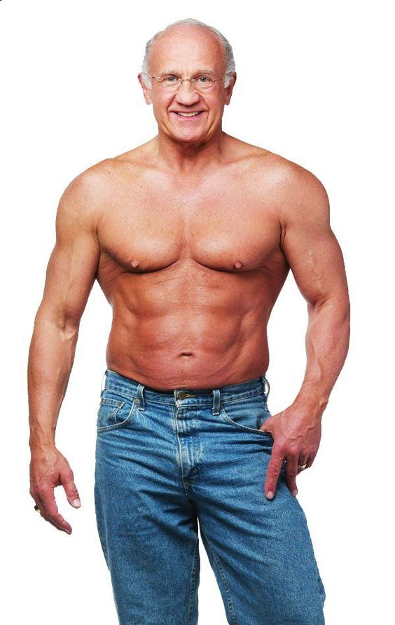 I'd be happy to be even close to this jacked at his age