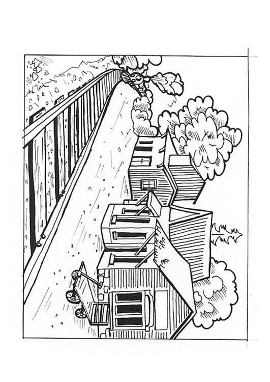 Coloring Page Train Station Coloring Picture Train Station Free