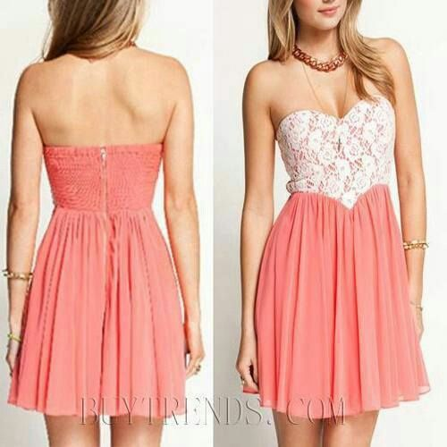 Peachy lacey dress