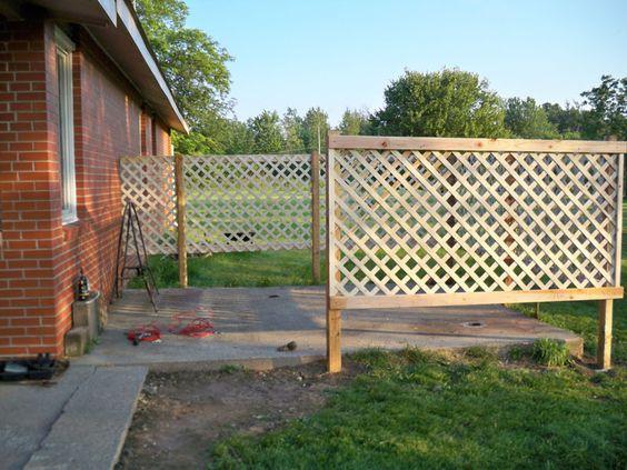 Patio Privacy DIY Lattice Fence GARDENING OUTDOORS