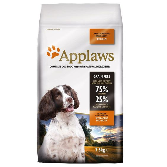 Animalerie  Applaws Adult Small & Medium Breed poulet pour chien  75 kg