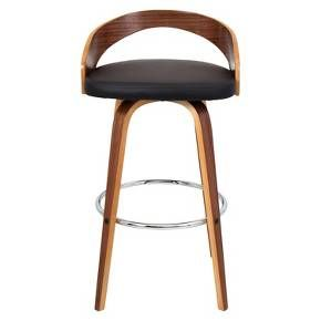 "Lumisource Grotto 30"" Barstool - Walnut : Target"