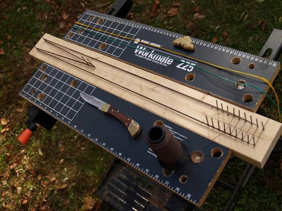 Using a string jig to build a Flemish Twist Bow String