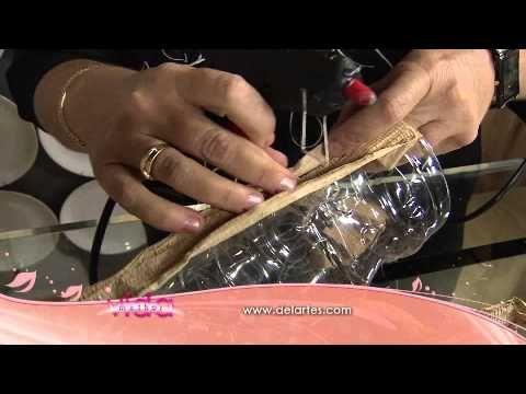 Veja como transformar uma garrafa pet em vaso decorativo! - YouTube