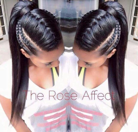 braided ponytail hairstyles for black hair costume ideas