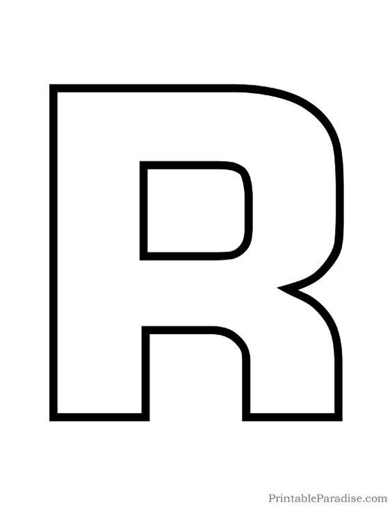 Printable Letter R Outline - Print Bubble Letter R | SENTIMENTS ...