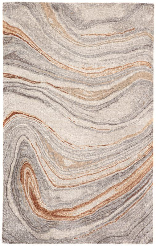 Ivy Bronx Fairmont Abstract Hand Tufted Copper Gray Area Rug Wayfair Rugs On Carpet Area Rug Collections Hand Tufted Rugs