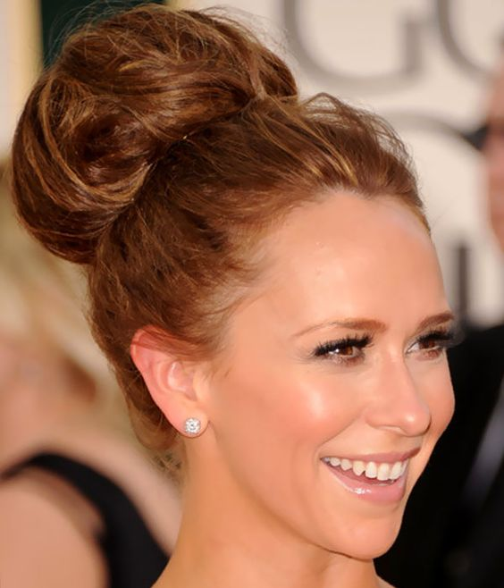 Fabulous High Bun Buns And Jennifer Love Hewitt On Pinterest Hairstyles For Men Maxibearus