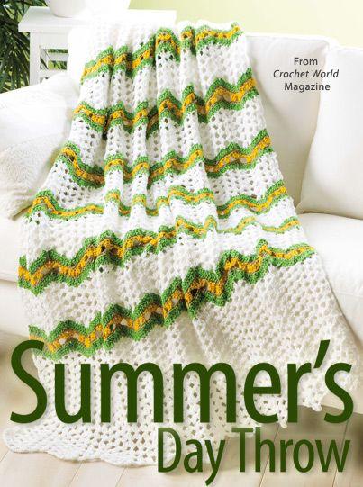 Crochet Magazine Summer 2015 : Crochet world, Summer days and Crochet on Pinterest