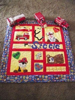 fire/nurse quilt Nursery ideas Pinterest Quilt